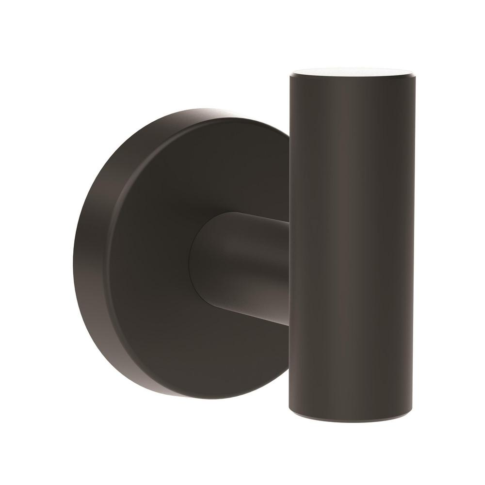 Arrondi Single Robe Hook in Matte Black