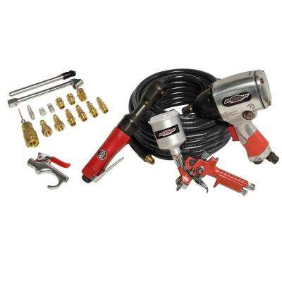 Air Tool Kit for Compressors (21-Piece)