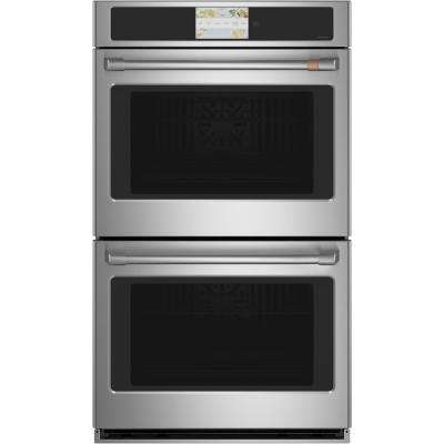 30 in. Smart Double Electric Wall Oven with Convection Self-Cleaning in Stainless Steel