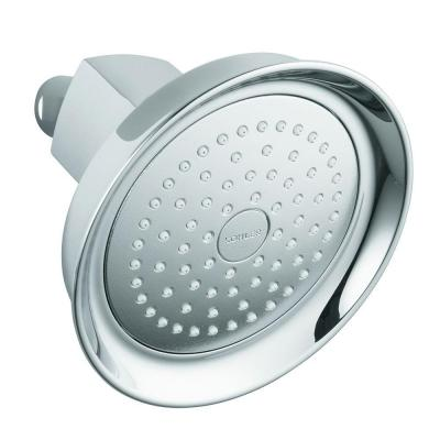 Margaux 1-Spray 5.3 in. Single Wall Mount Fixed Shower Head in Polished Chrome