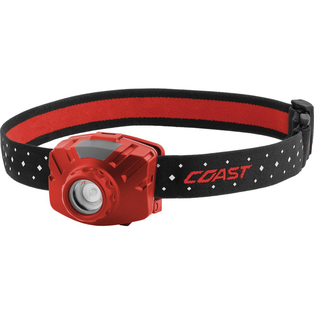 Coast FL60R 450 Lumen Rechargeable LED Headlamp, Accessories Included