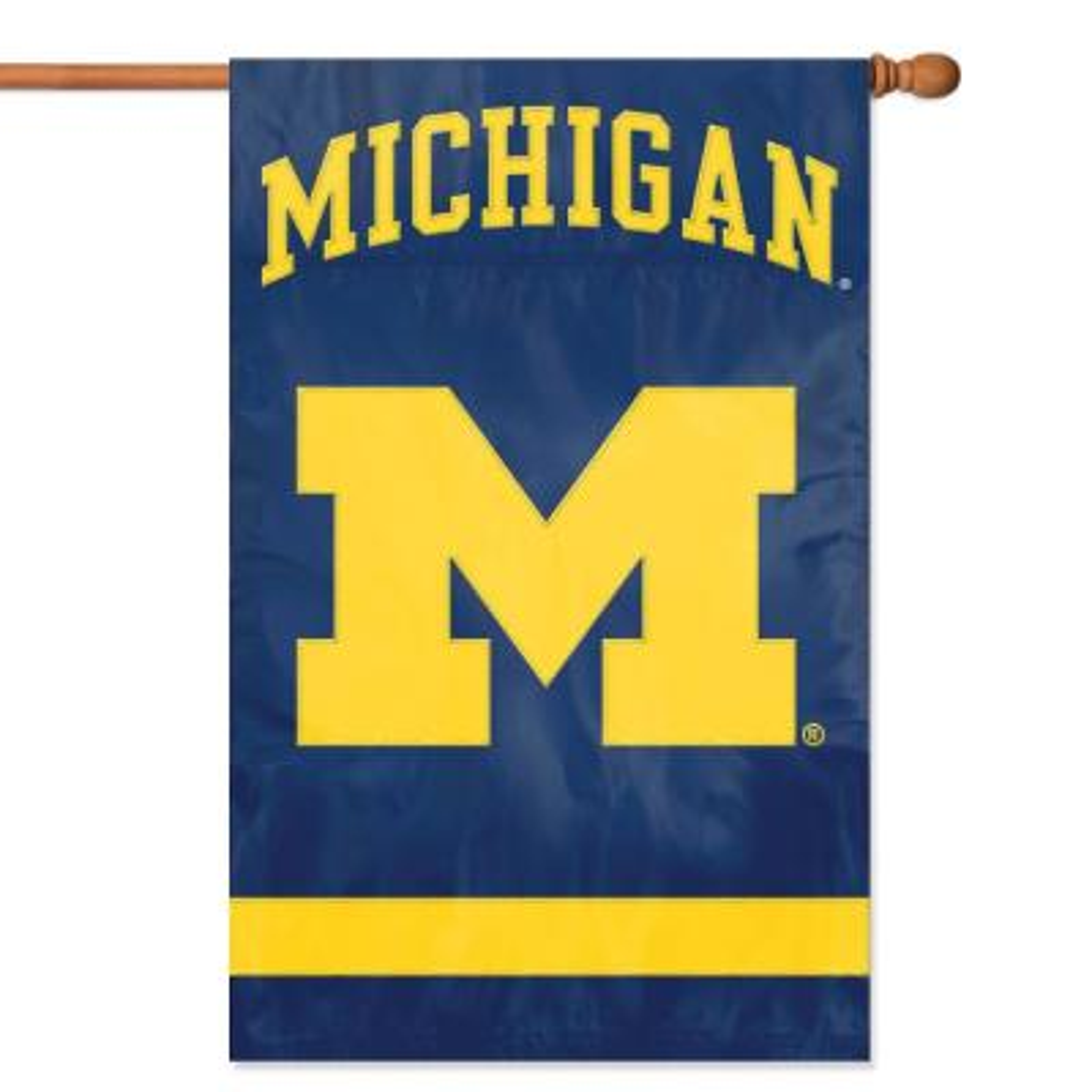 Michigan Applique Banner Flag
