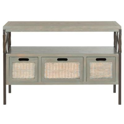 Joshua French Gray Storage Console Table