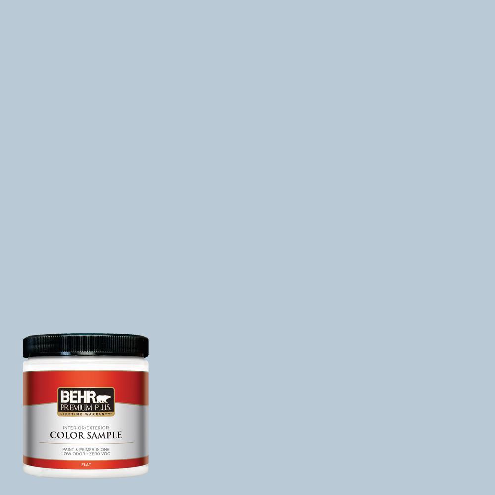 8 oz. #PPU14-15 Denim Light Flat Interior/Exterior Paint Sample