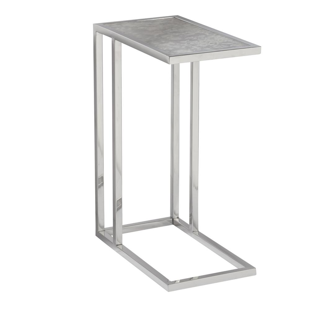 Accentrics Home Contemporary Rectangular Gl Side Table Ds D191