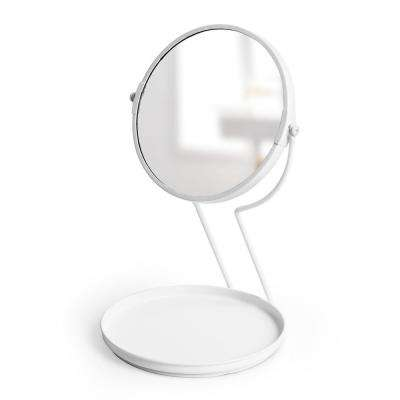 See Me 6 in. x 6 in. Countertop Mirror White