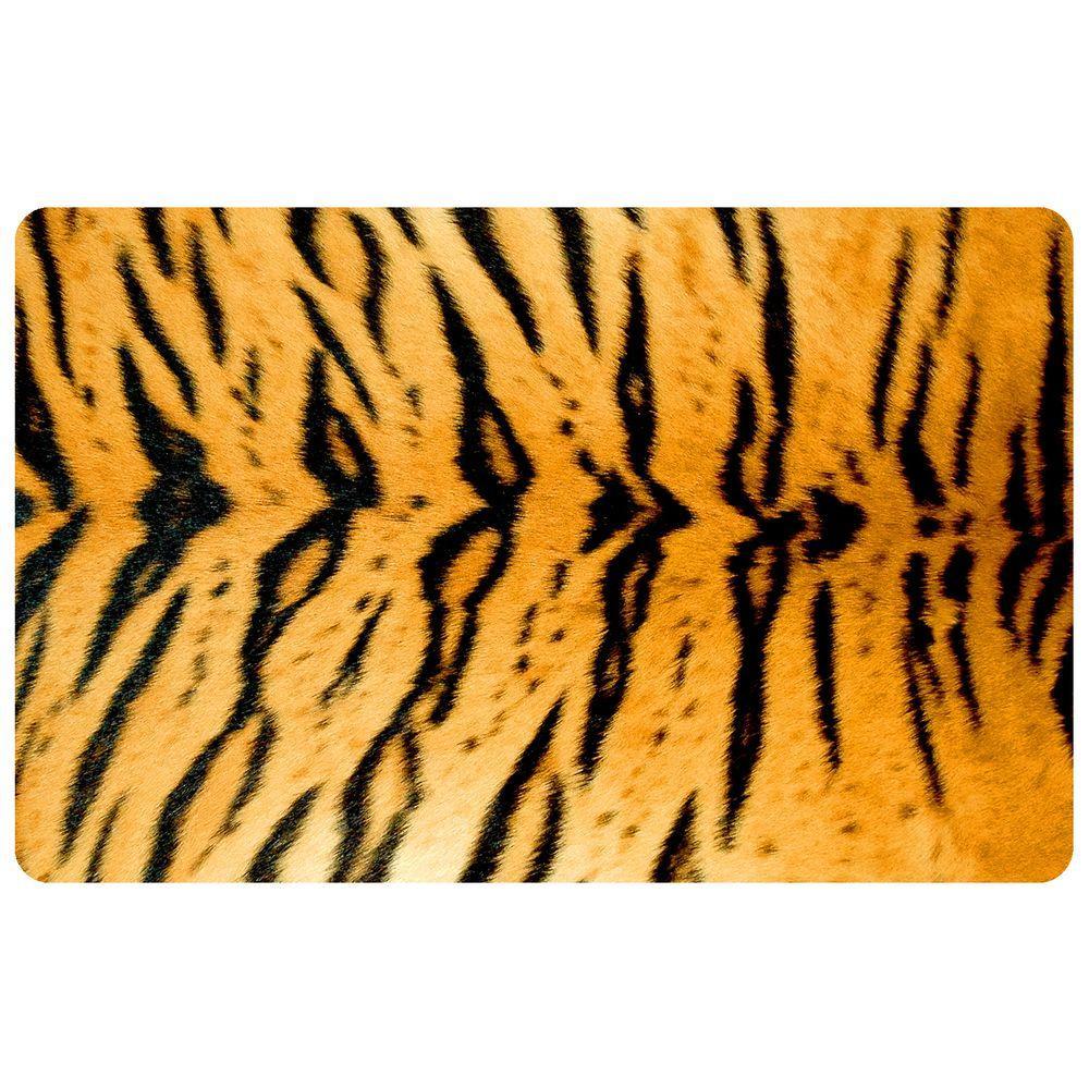 Bungalow Flooring Multi Color 18 in. x 27 in. Neoprene Tiger Door Mat  sc 1 st  Home Depot & Bungalow Flooring Multi Color 18 in. x 27 in. Neoprene Tiger Door ...