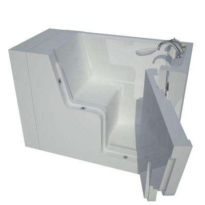 HD Series 29 in. x 53 in. Right Drain Wheelchair Access Walk-In Soaking Bathtub in White