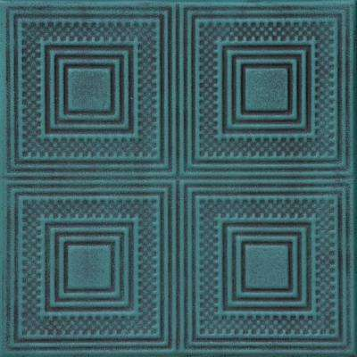 Nested Squares 1.6 ft. x 1.6 ft. Foam Glue-up Ceiling Tile in Antique Green