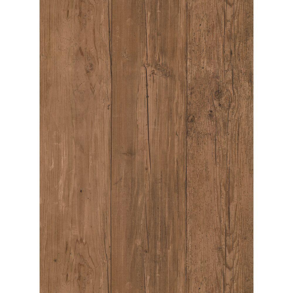 Natural Elements Wide Wooden Planks Wallpaper