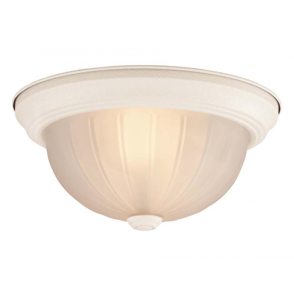 Illumine Lisa 2-Light Textured White Flush Mount