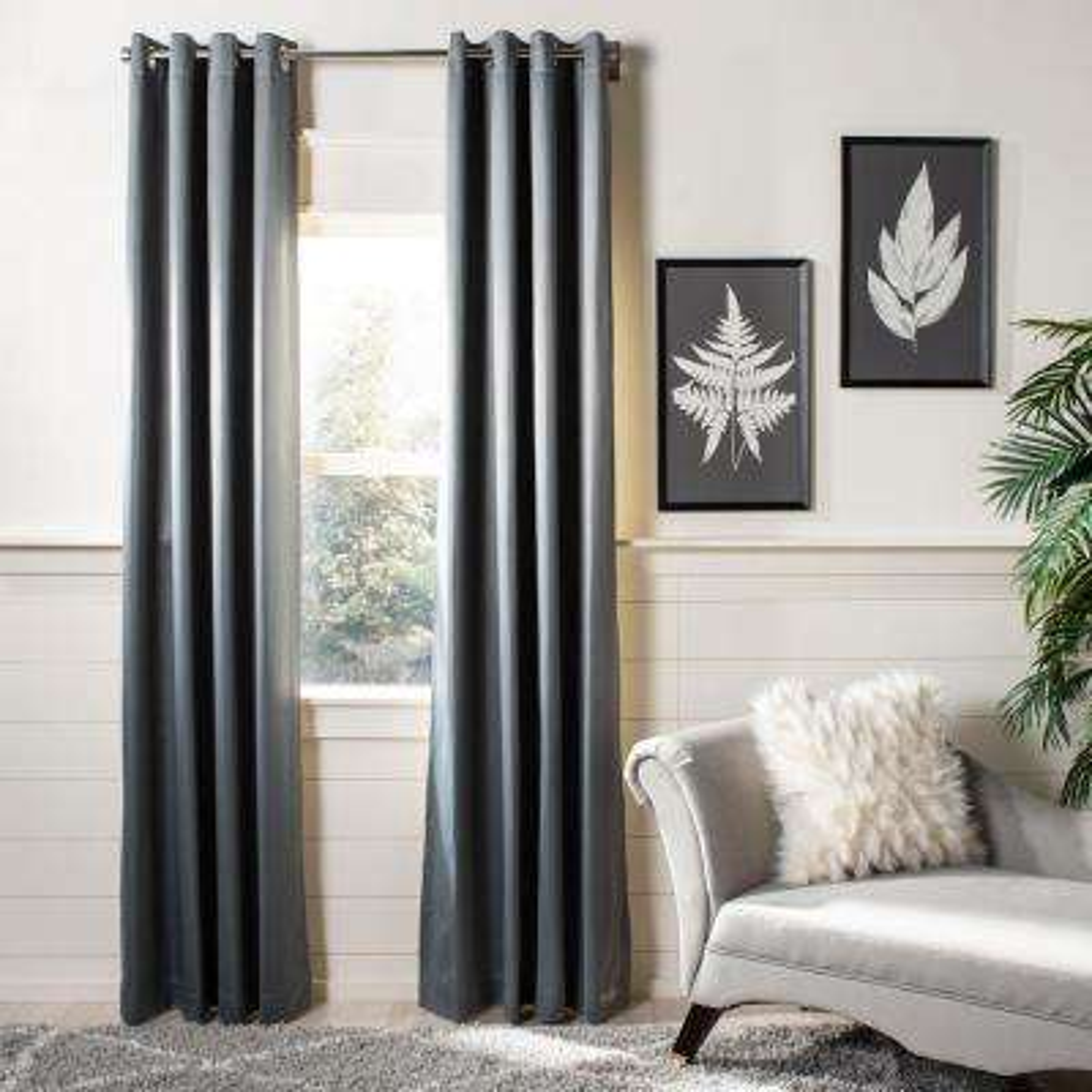 Gresla 52 in. W x 96 in. L Window Panel in Grey