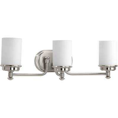 Glide Collection 3-light Brushed Nickel Bath Light