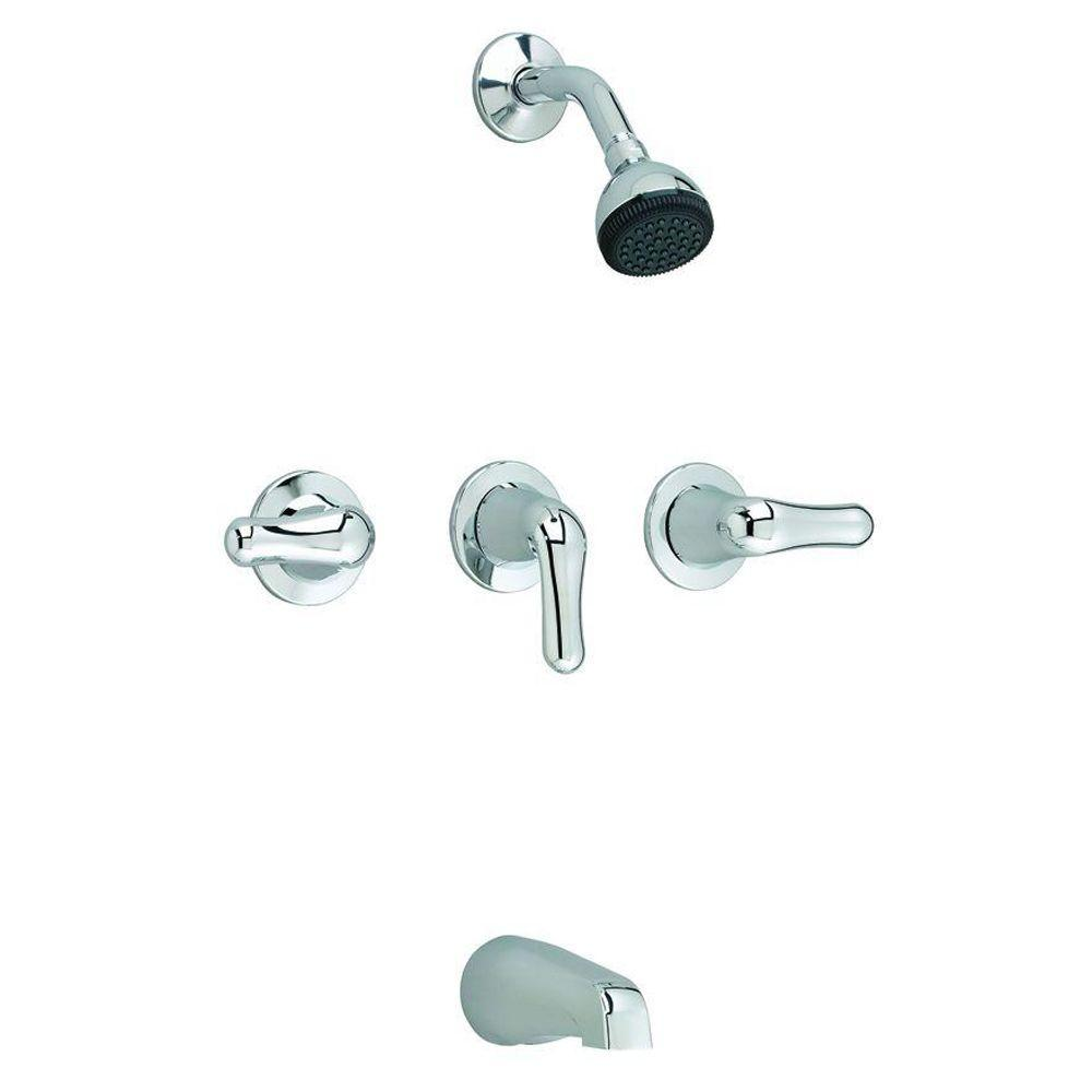 American Standard Colony 3-Handle 1-Spray Tub and Shower Faucet in Polished Chrome