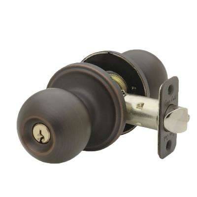 Tuscan Bronze Keyed Entry Door Knob