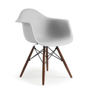 Vortex Arm Chair Walnut Leg in Harbor Grey