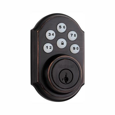 Z-Wave SmartCode 910 Venetian Bronze Single Cylinder Electronic Deadbolt Featuring SmartKey Security