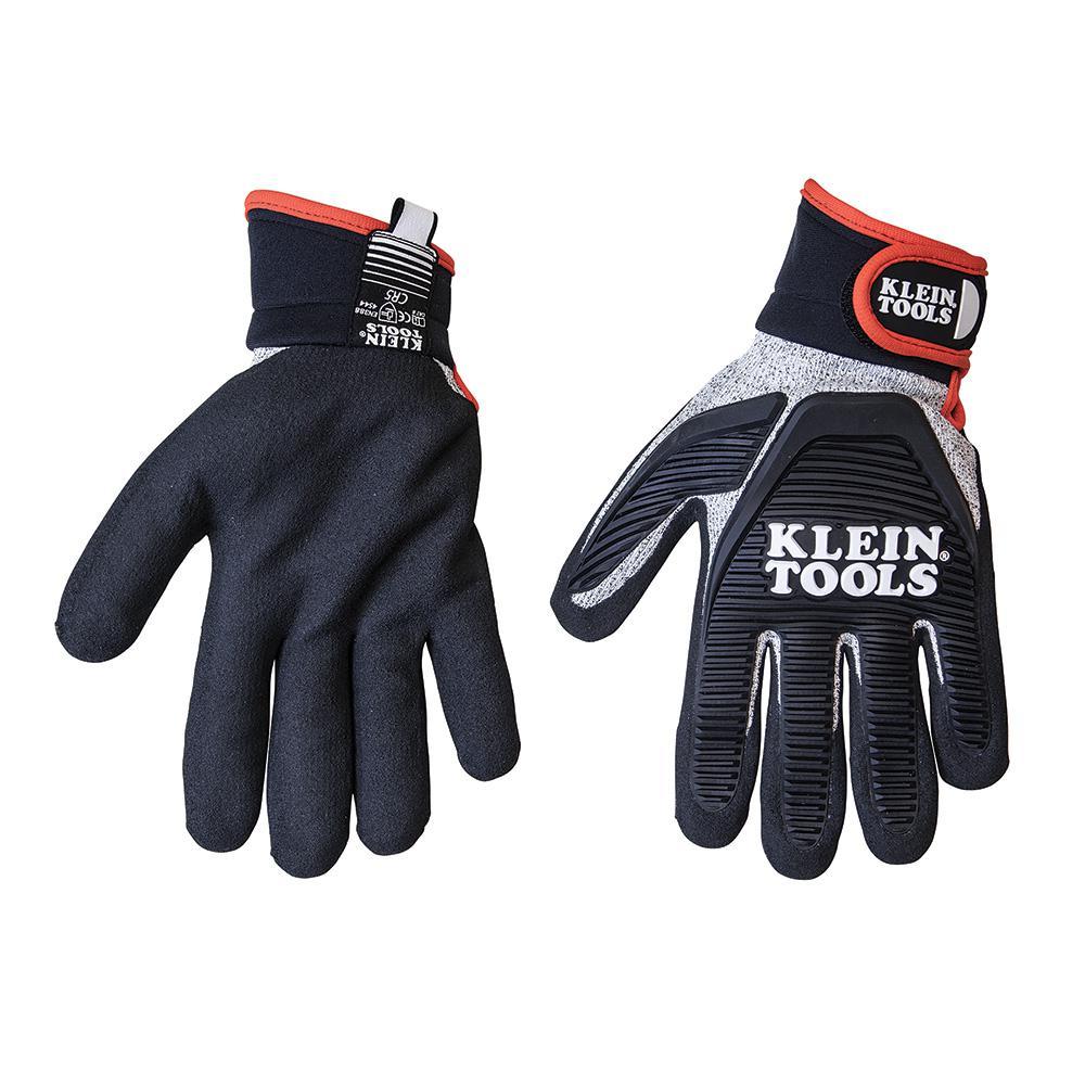 Deals on Klein Tools Journeyman Large Black Cut Resistant Gloves 40224