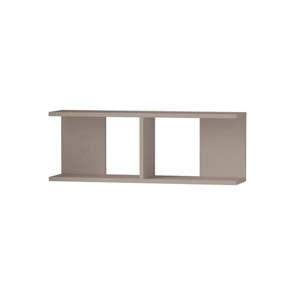 Ada Home Decor Warwick Light Mocha Mid-Century Modern Wall Shelf DCRW2113