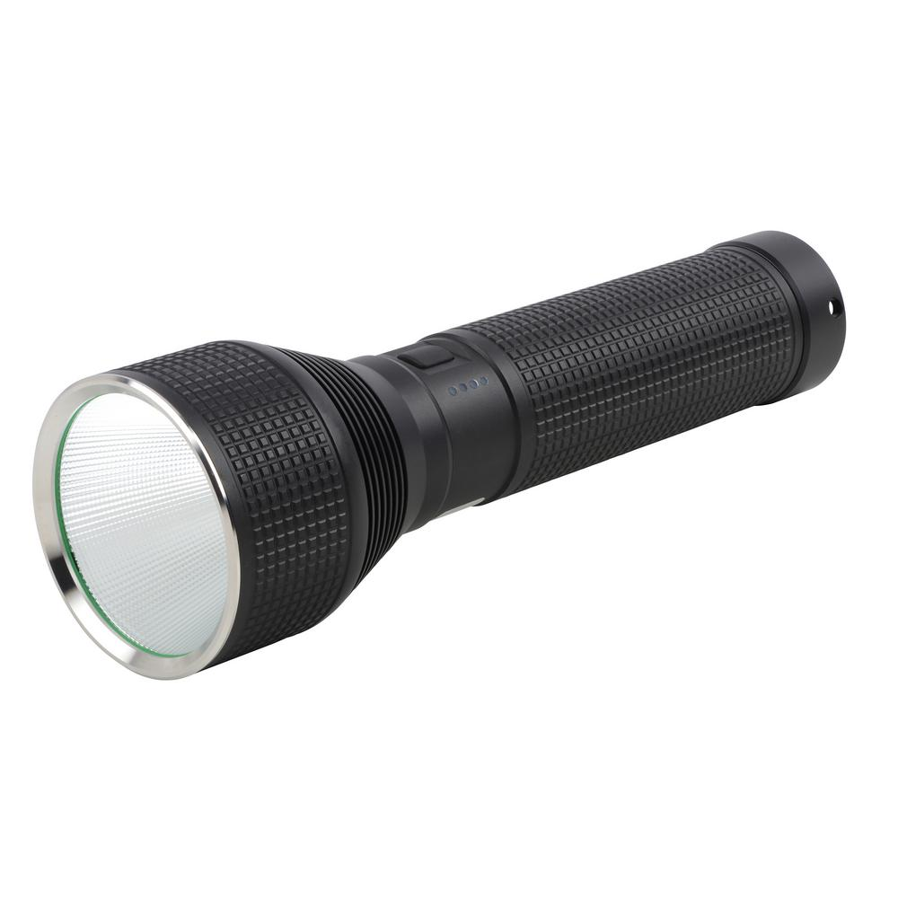 LED Rechargeable Tactical Flashlight Plus Power Bank