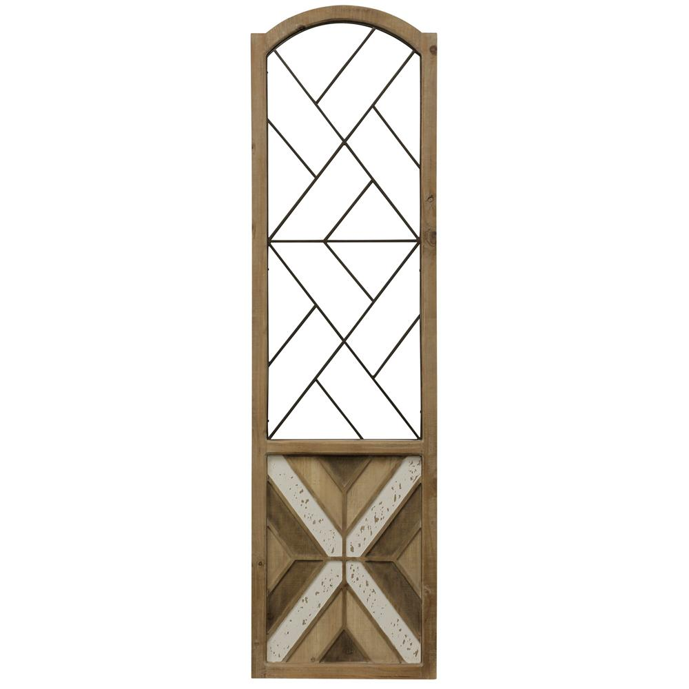 StyleCraft Traditional Arch Aspire Scroll Metal and Wood Wall Art, Natural was $209.99 now $84.72 (60.0% off)