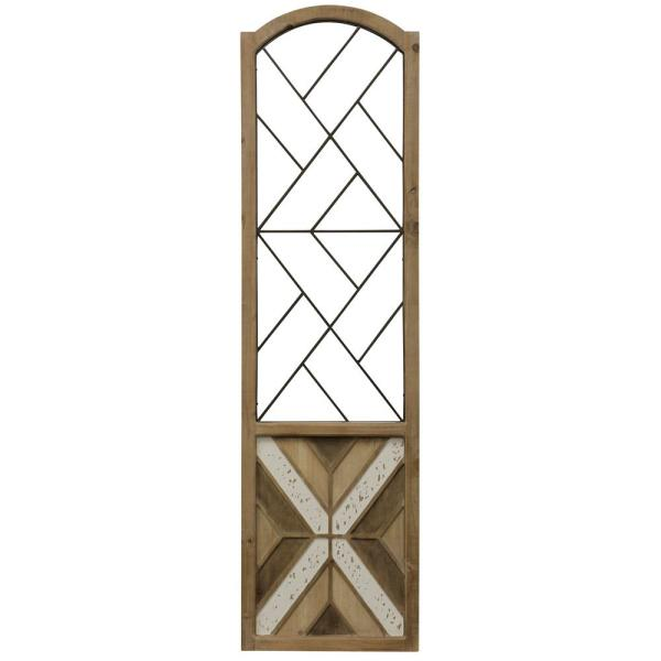 Traditional Arch Aspire Scroll Metal and Wood Wall Art