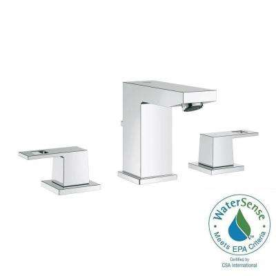 Eurocube 8 in. Widespread 2-Handle Bathroom Faucet in StarLight Chrome