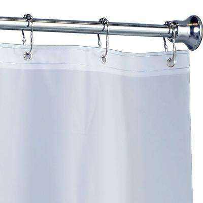 70 in. x 72 in. Mildew Resistant Heavyweight PEVA Shower Liner with Microban in Frost