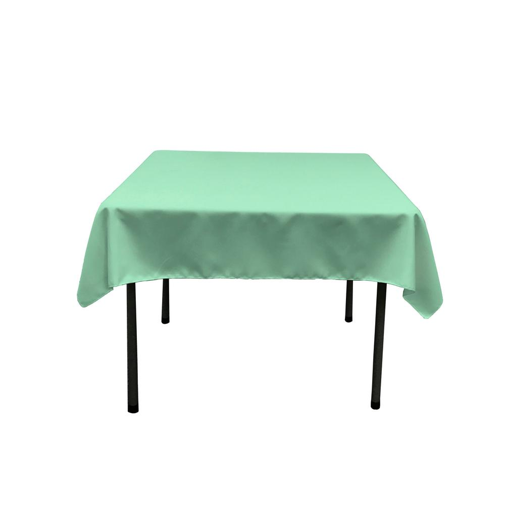 Mint Polyester Poplin Square Tablecloth