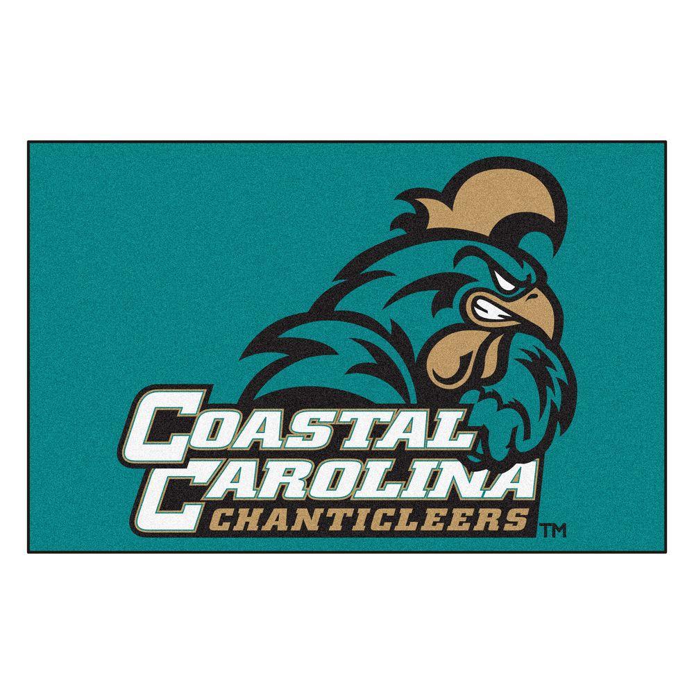Fanmats Ncaa Coastal Carolina Teal 1 Ft 7 In X 2 Ft 6