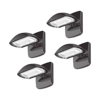 High-Output 200-Watt Equivalent LED Flood Light with Wall Mount Kit, 3000 Lumens, Outdoor Security Lighting (4-Pack)