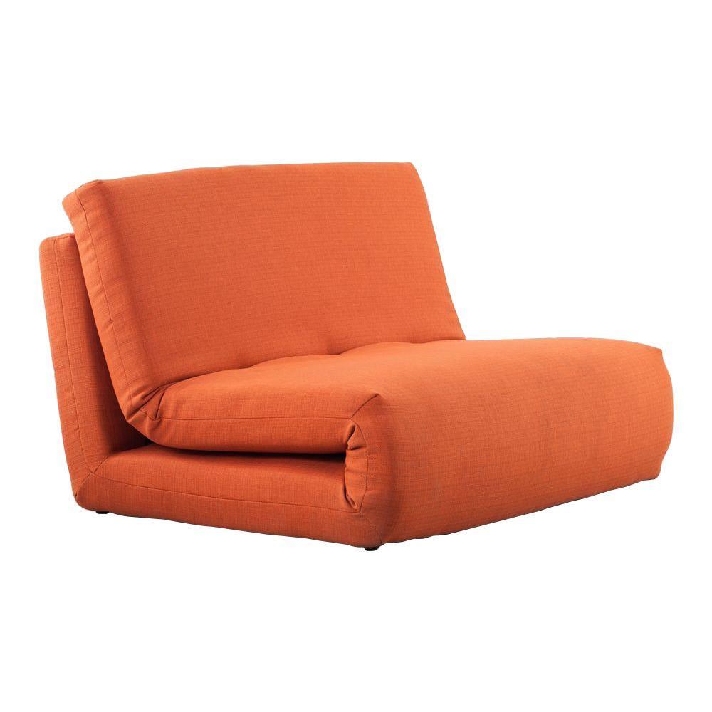 ZUO Polygon Mandarin Orange Fabric Sleeper Chair
