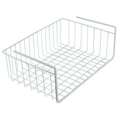 Steel White Wire Under Shelf Storage Organization Basket