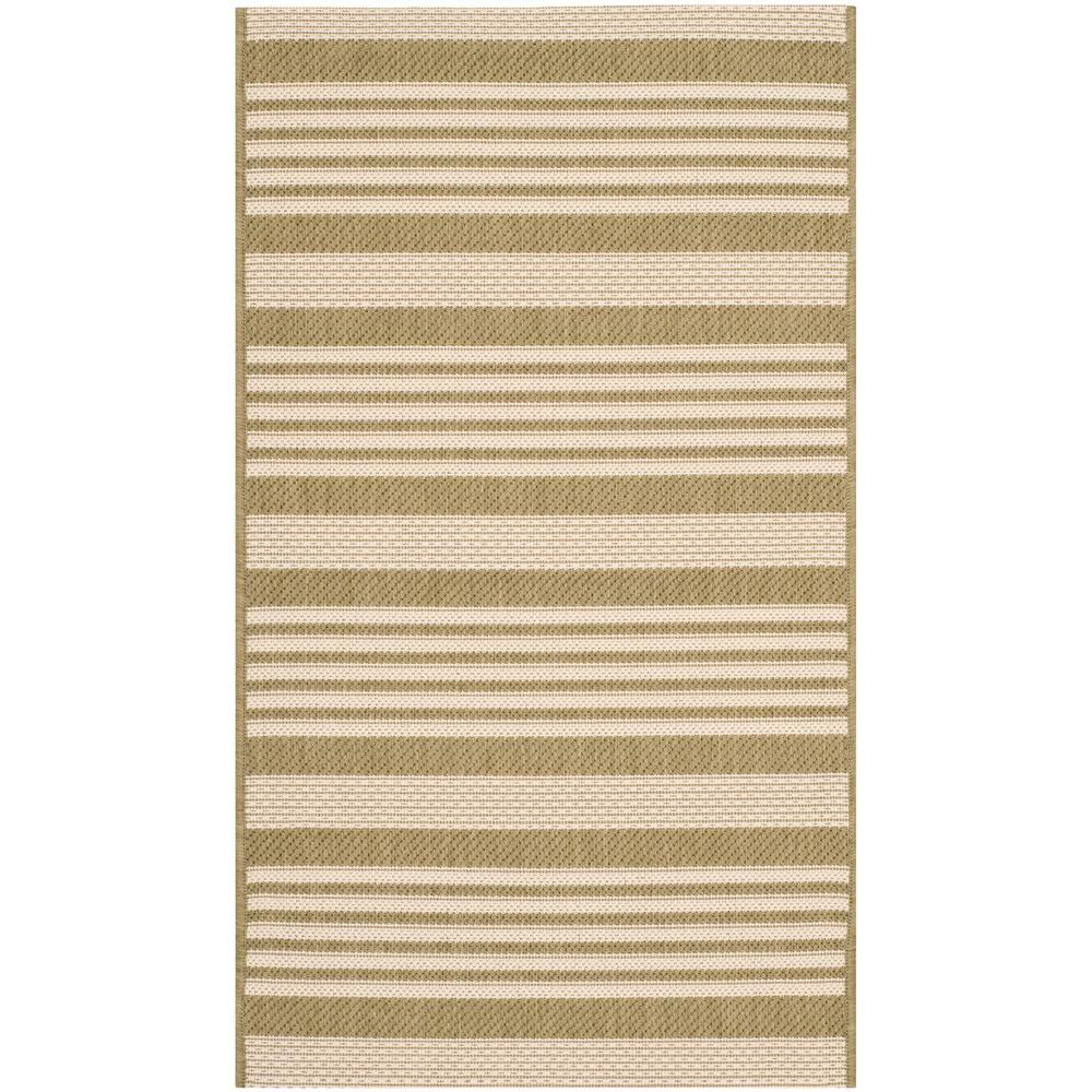 Safavieh Courtyard Green/Beige 2 ft. x 3 ft. 7 in. Indoor/Outdoor Area Rug