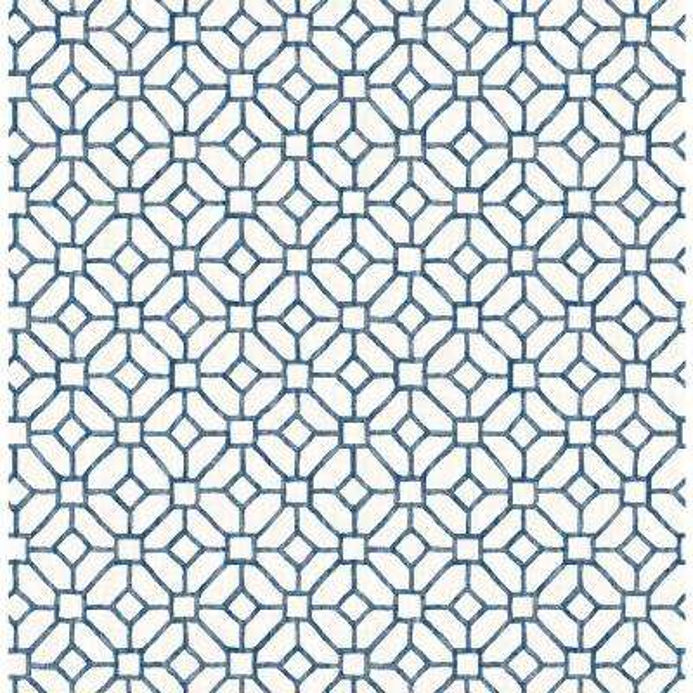 Gigi Navy Geometric Wallpaper