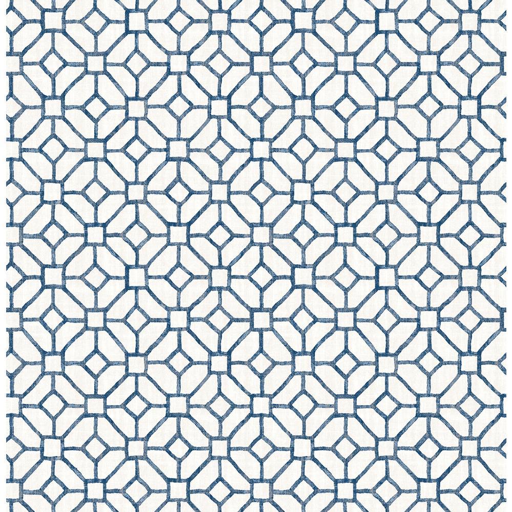 A-Street Gigi Navy Geometric Wallpaper Sample 2657-22238SAM