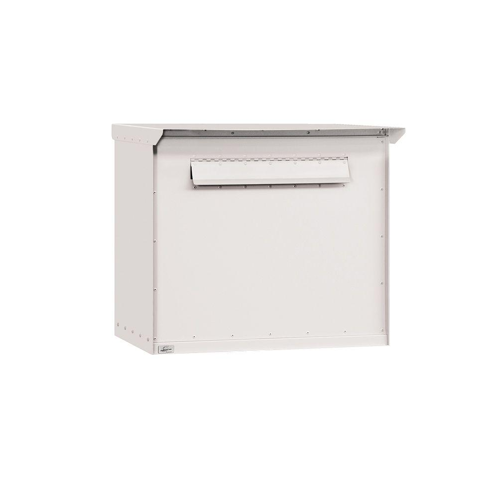 Salsbury Industries 4200 Series Pedestal Drop Box in Jumbo White