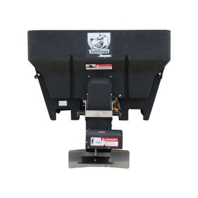 0.75 cu. yds. Electric Black Poly Hopper Salt Spreader