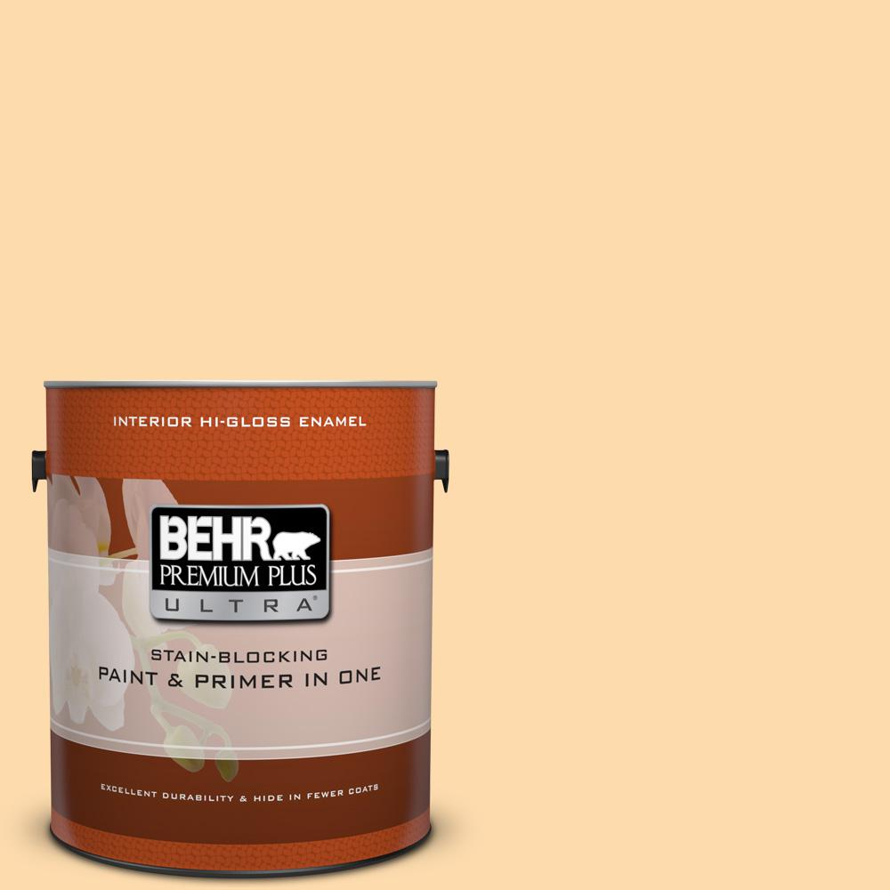 1 gal. #P240-2 Peach Glow Hi-Gloss Enamel Interior Paint