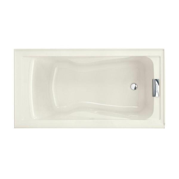 American Standard Evolution 5 Ft Right Drain Deep Soaking Tub With Integral Apron In Linen 2425v Rho002 222 The Home Depot