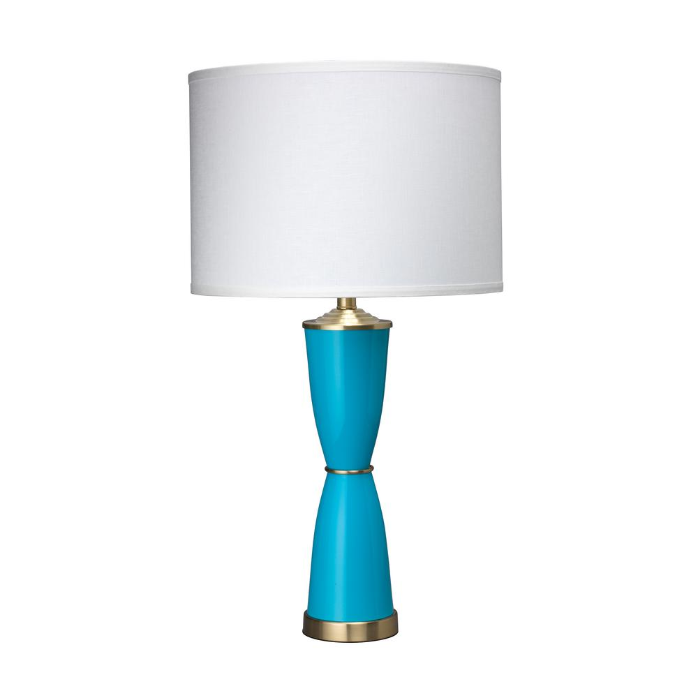 31 in. Blue Lido Table Lamp with Shade