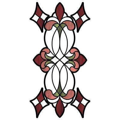 Red Vineyard Stained Glass Decal (Set of 2)