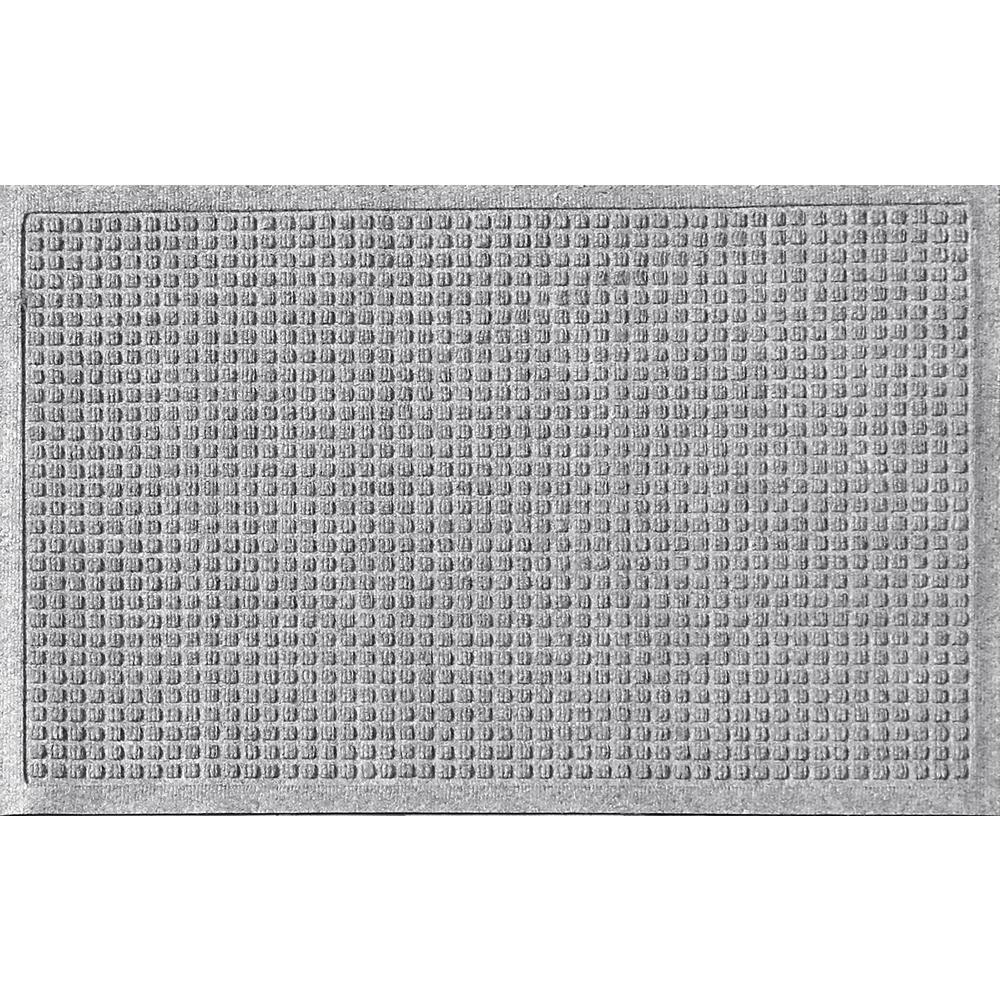Aqua Shield Medium Gray 24 in. x 36in Squares Polypropylene Door Mat