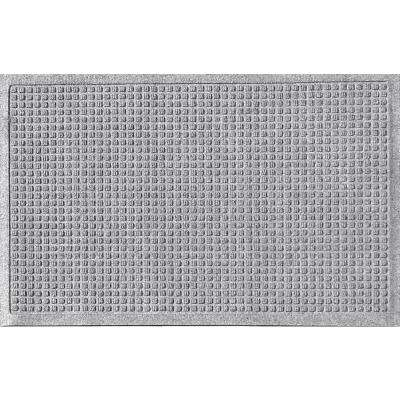 Medium Gray 24 in. x 36in Squares Polypropylene Door Mat