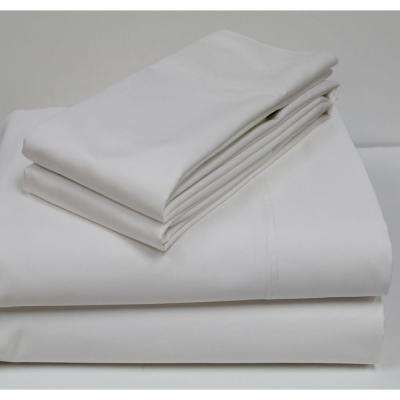 White 800-Count Egyptian Cotton Queen Sheet Set
