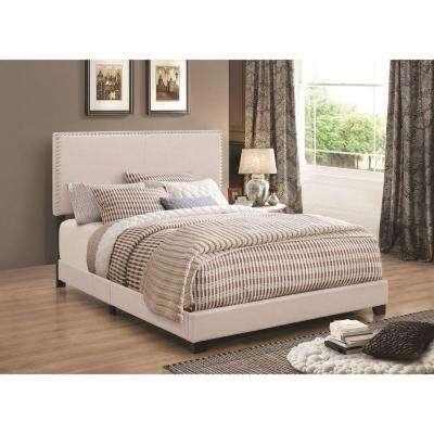 Modern Ivory Panel Twin Bed