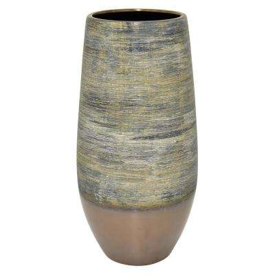16 in. Multi-Colored Ceramic Vase