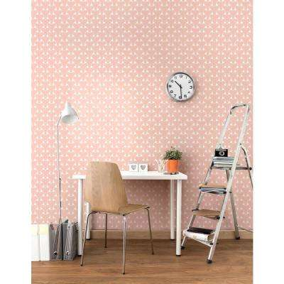 Art in Chaos Collection Island Weave in Bleached Coral Removable and Repositionable Wallpaper