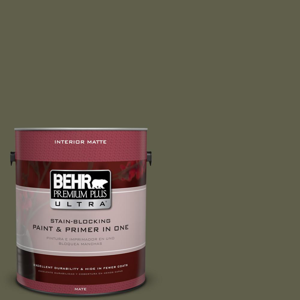 Behr Premium Plus Ultra 1 Gal Mq6 58 Fig Tree Matte Interior Paint And Primer In One 175301