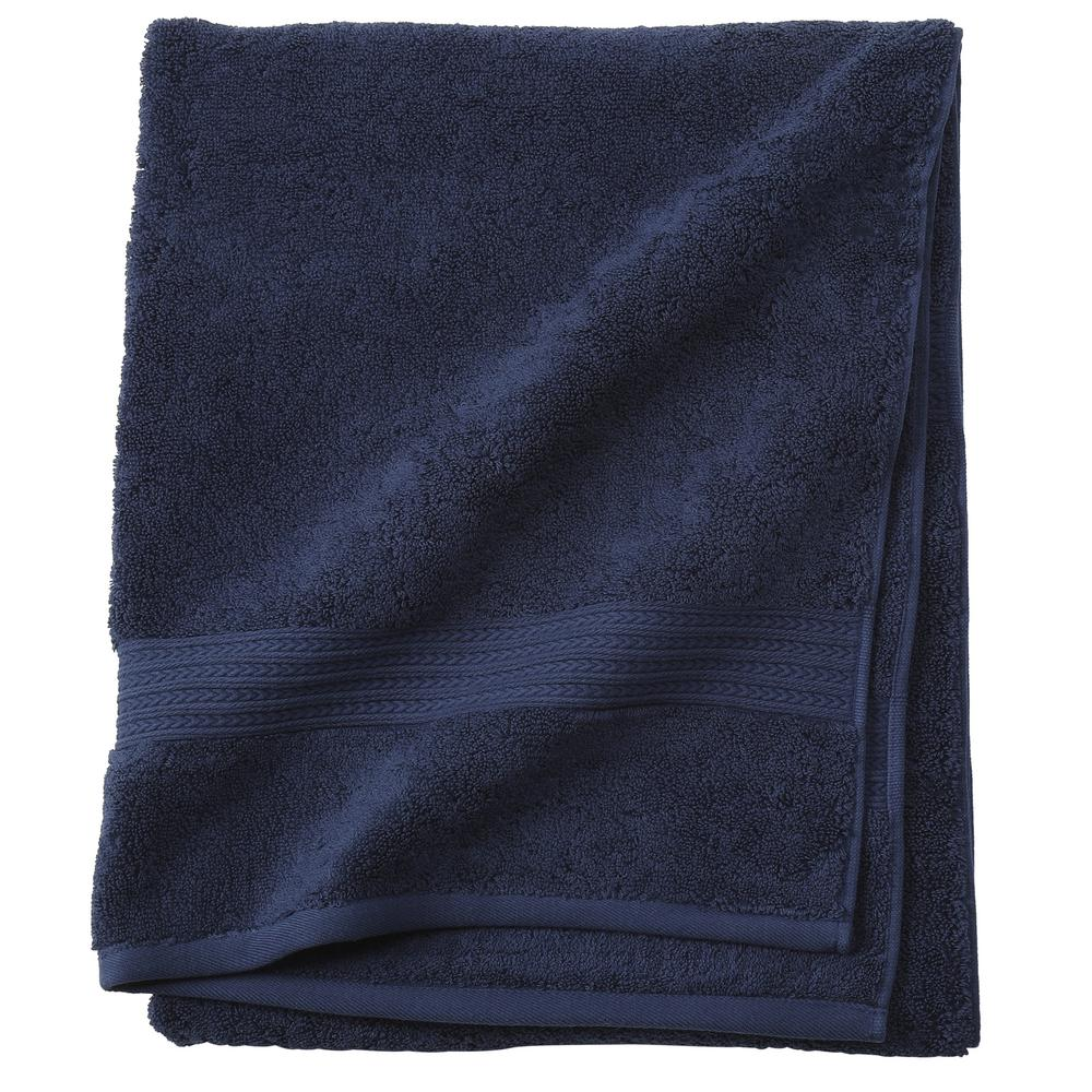 Home Decorators Collection Newport 1-Piece Bath Towel in Navy ...